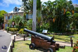 The Cannon outside the Copper and Lumber Store