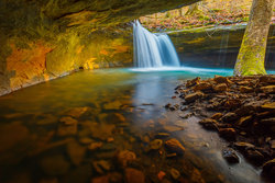 Hidden Waterfall In The Ozark National Forest