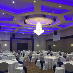 Ballroom Blue Lighting