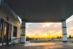 Marfa Exterior Sunset