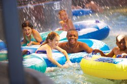 Kids on Tubes in Lazy River at CoCo Key Water Resort