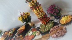 Food Display for Luau
