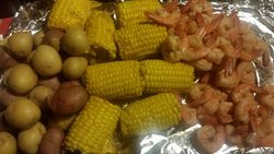 Corn, Potatoes, and Shrimp