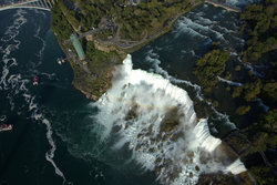Aerial View Of The American Falls