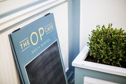 The OP Cafe Outdoor Sign