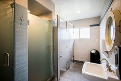 Shared Bathroom Shower & Toilet Stalls