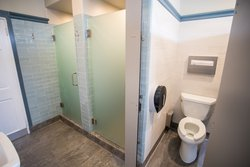 Shared Bathroom Toilet & Shower Stalls