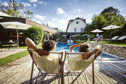 Enjoy the heated pool from April to October