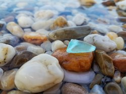 Lucky Guests find Sea glass as Sandaway Suites & Beach