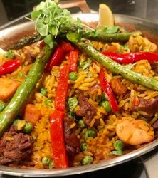 All Meat Paella at Brasas Restaurant