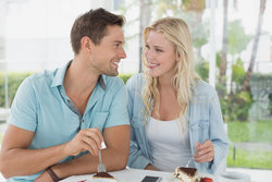 Couple Enjoying Dessert