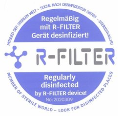 R Filter - disinfectioned with ozone
