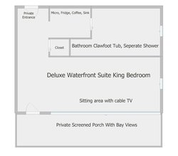 Deluxe Waterfront Suite Layout