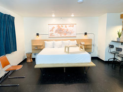 Studio Kitchenette with 1 King Bed + Bunkbed (No Pets)