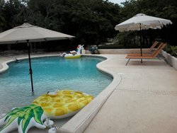 Come and relax at the pool.