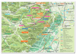 Mountain bike route map Anninger area