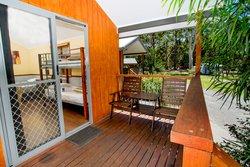 Banksia Open Plan Studio outdoor seating