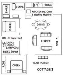 Cottage Three Floorplan