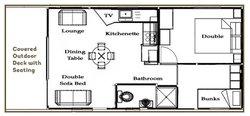 Cabin 7 Floor Plan