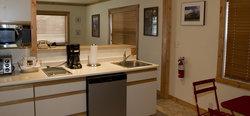 Jackson Hole Cabin Bed Kitchen