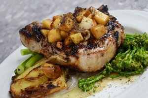 Pork Chop with Potatoes - Fine Dining