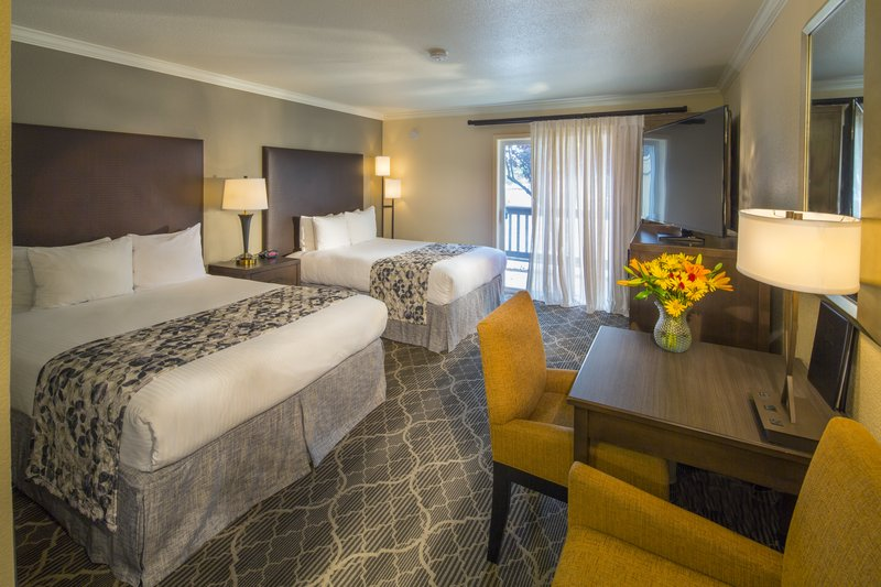 Our Patio Two Queen Room Is Spacious Enough For Work Or Relaxation And  Features Two Queen Beds, A Patio With Sliding Glass Doors, A Sizeable Patio  To Enjoy ...