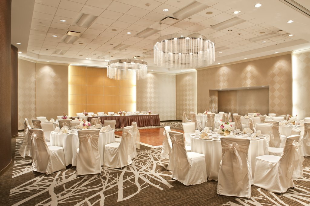 Event Venue with Banquet Tables and Dance Floor