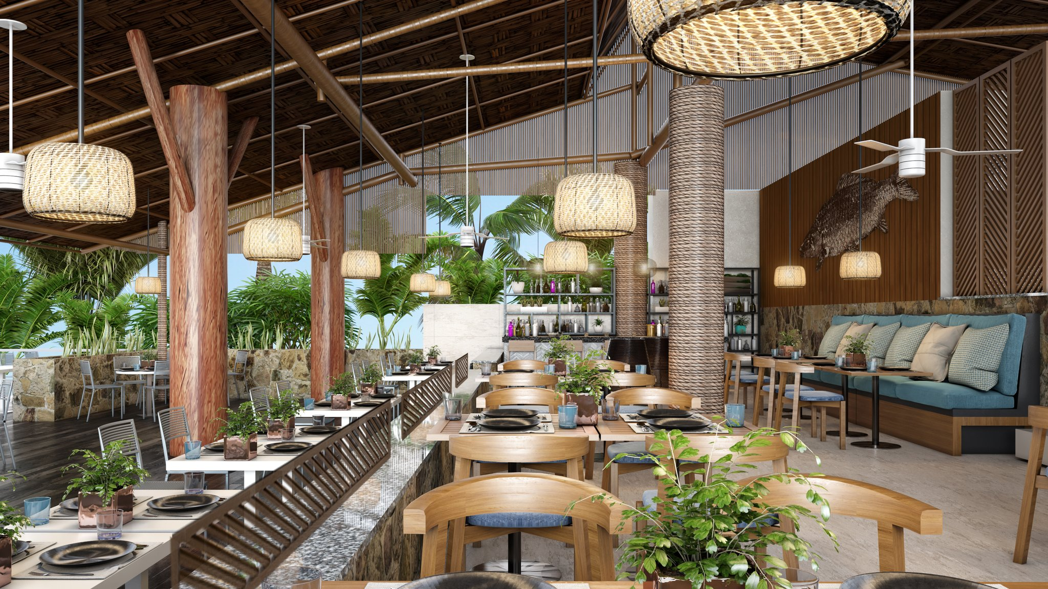 hotel live aqua beach resort cancun restaurants