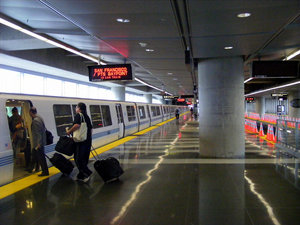 BART Transit near the Comfort Inn & Suites San Francisco Airport West