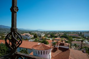 View from Santa Barbara County Courthouse