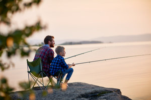 Father son fishing