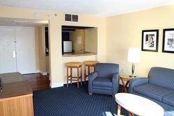 King Suite Living Space and Kitchenette