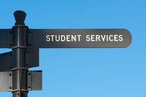 San Diego State University Student Services Sign