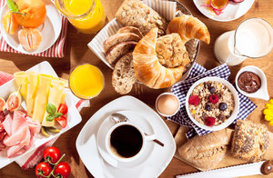 Large Breakfast Spread