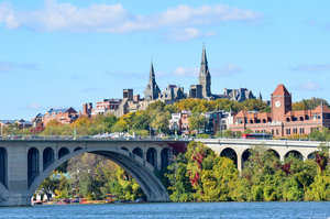 Washington DC Bridge Georgetown