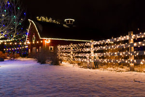Christmas Lights Barn