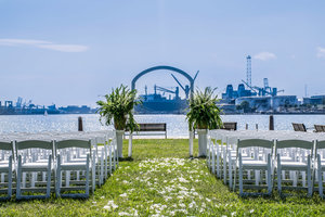 Outdoor Weddings at the Harbor Pier
